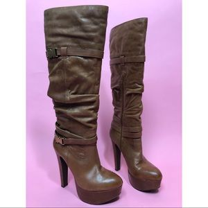 Jessica Simpson Alster Whiskey platform boots 8.5
